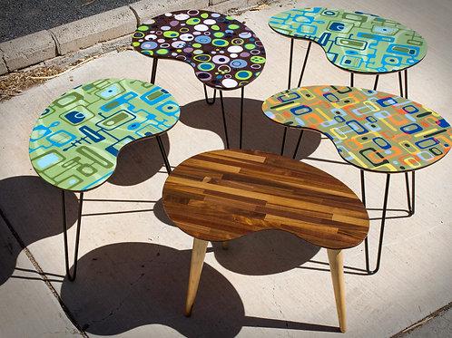 Mid Century Modern Kidney Side Table Coffee Table