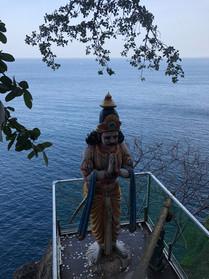 Temple overlooking the ocean
