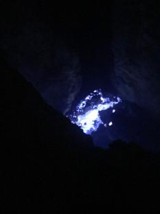 Mount Ijen blue lava