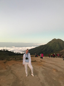 At the top of Mount Ijen
