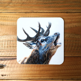 Bellowing Stag Coaster