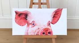 Pig painting | pig picture | pig art | pig print | pig art print | pig canvas | pig wall art