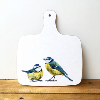 Blue Tits Chopping Board