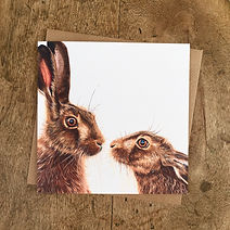Kissing Hares Card + brown envelope.jpg