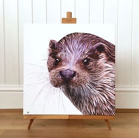 otter painting | otter art | otter picture | otter print | otter decor | otter canvas | otter face | lutra lutra | british wildlife | wildlife painting | wildlife art | wildlife artist | otter life | otter lovers | otter gifts | otter decor | otter wall art | british otters | british wildlife centre | otters | river otter | otter wall art