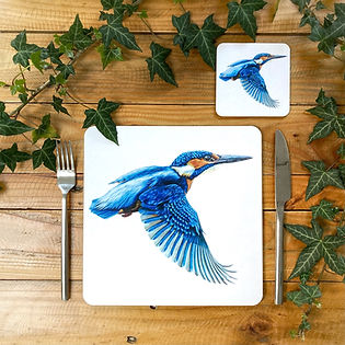 Kingfisher Placemat and Coaster.jpg