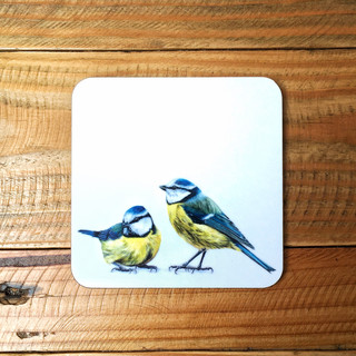 Blue Tits Coaster