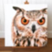 Eagle Owl painting