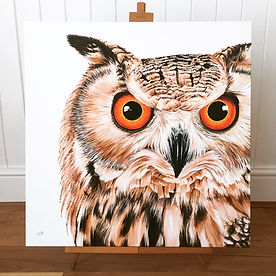 Eagle Owl painting | owl painting | owl art | owl picture | owl canvas | owl wall art | owl art print | owl portrait | owl decor | owl lovers | owl gift | owl eyes | eagle owl art | eagle owl picture | birds of prey art | raptor art | bird of prey art | bird of prey painting | bird of prey picture | bird of prey design | owl decor | owl wall art