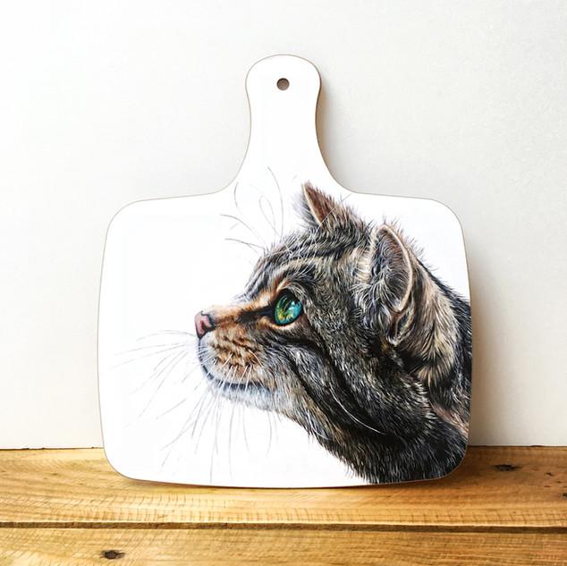 Cat Chopping Board