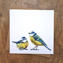 Jack and Margo Card (Blue Tits Card)