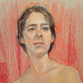 The waiting (detail)_Color pencil on pap