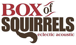 box of squirrels website featuring details about the band and its acoustic eclectic music. banjos, mandolin, upright bass, vocal harmony fok and ameriana music played. show details, demo, venue