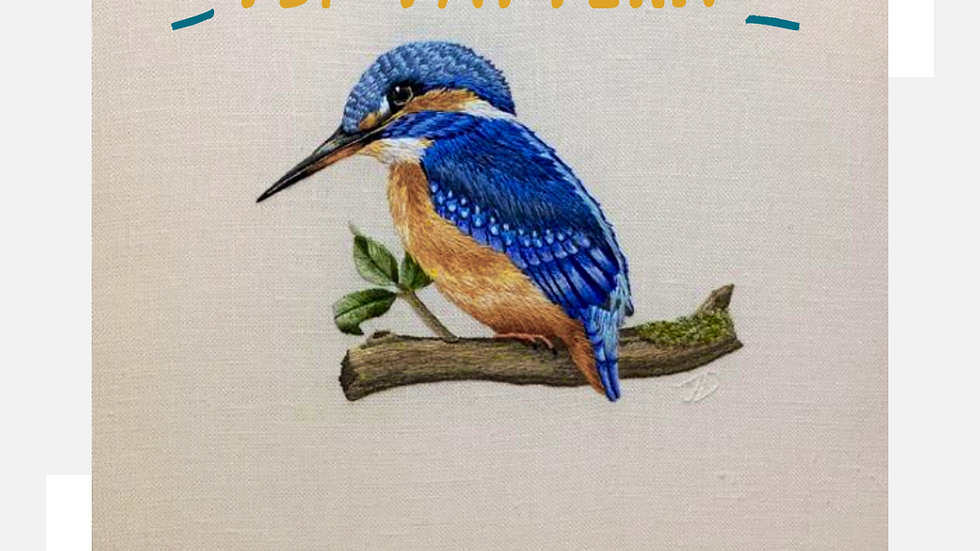 Needle Painting of a Common Kingfisher