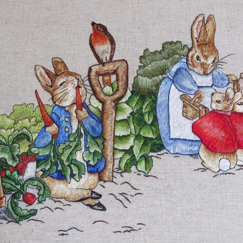 Peter Rabit embroidery