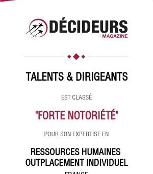 Talents & Dirigeants:  un nouvel acteur de référence en outplacement et coaching de dirigeants