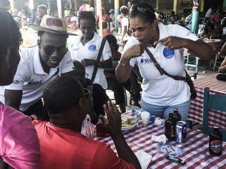 Sensibilisation contre la Domesticité aux Cayes dans la grande fête patronale de Notre Dame