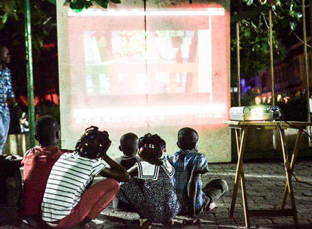 Projection du Film Ti Sentaniz à la place d'armes des Cayes