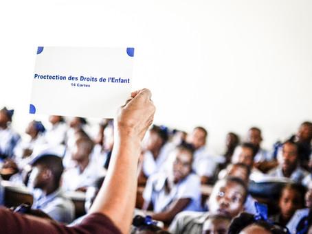 Campagne de sensibilisation pour la protection des droits de l'enfant dans la ville des Cayes...