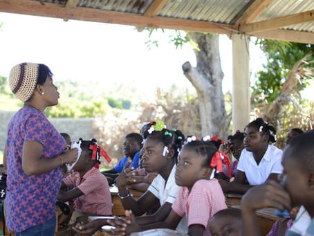 Campagne sensibilisation contre la domesticité à l'Ecole Saint-André de Maccabé Port-Salut.