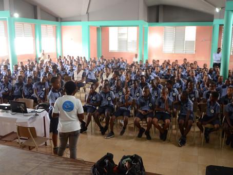 Sensibilisation au Marché  Carpentier à Port-Salut, à l'école Sémiramis Thélémaque des cayes...