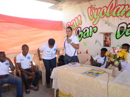 Sensibilisation de masse au marché de Maniche et rencontre communautaire  à « K-Ciel »  aux Cayes
