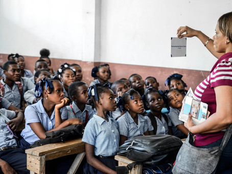 Sensibilisation de masse pour la protection de l'enfant au Collège Saint Louis de Gonzague des Cayes