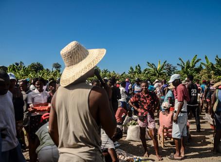 sensibilisation de masse dans les marchés de Port Salut, de Tiburon et de Rôche à Bâteau.