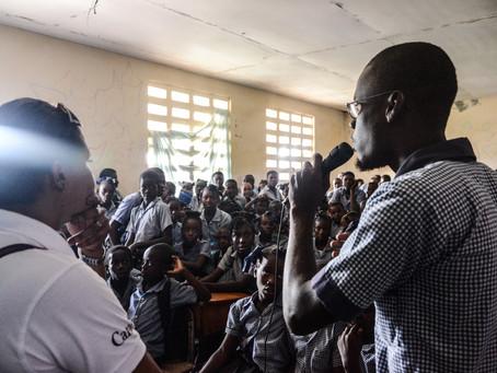 sensibilisation de masse dans quelques écoles à Torbeck, Cayes avec la visite de l'Unicef.