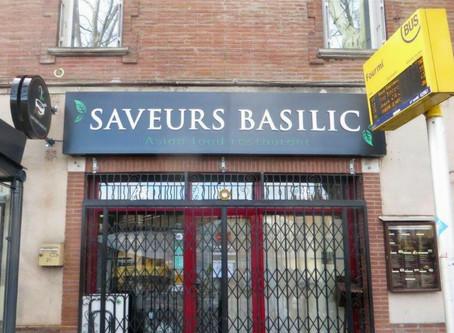 Enseigne pour Saveurs Basilic à Toulouse