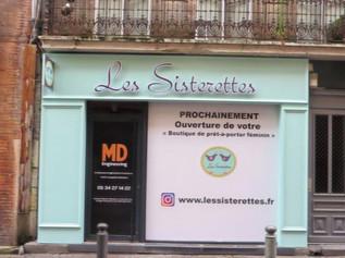 Enseigne pour Les Sisterettes à Toulouse