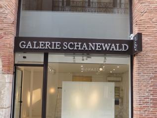 Enseigne pour la Galerie d'Art Schanewald à Toulouse