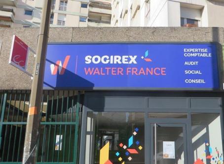 Enseigne pour Sogirex à Toulouse