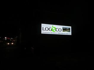 Caissons lumineux pour Logeco