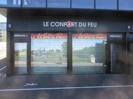 Enseigne pour Le Confort du Feu à L'Isle Jourdain