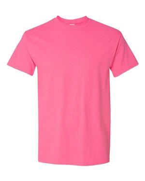 Gildan Pink Tee Shirt, WITH PLAYER NUMBER