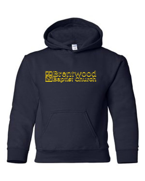 Navy blue Gildan Hooded Sweat Shirt
