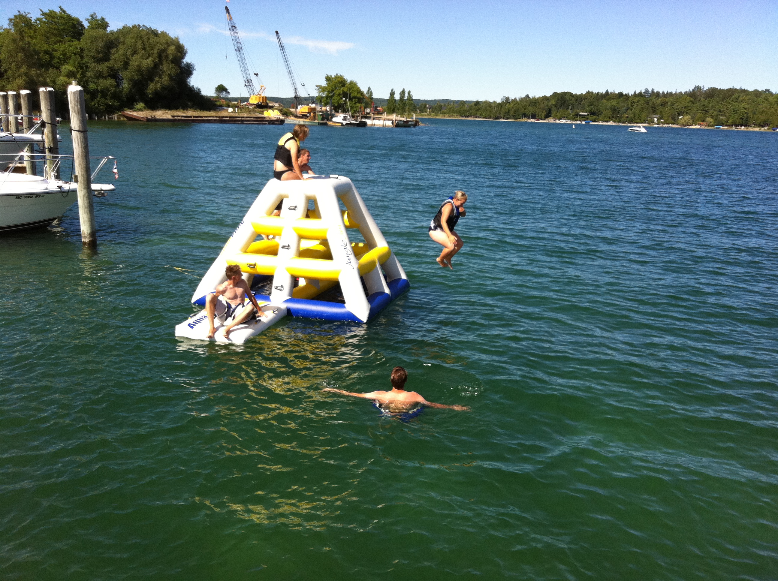 Fun Times at the marina!  Jungle Jim