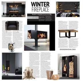 A collage with fireplaces