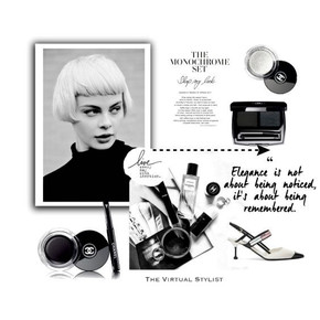 The monochrome set, beauty items