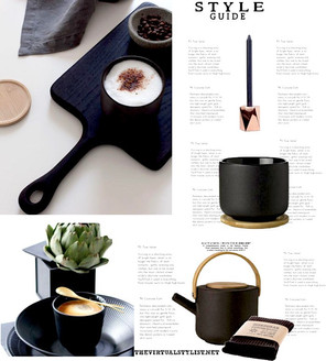 Black tableware pieces ideas and mood board