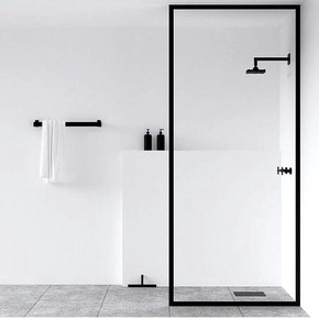 Clean bathroom design
