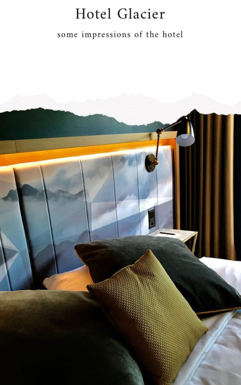 hotel glacier bedroom