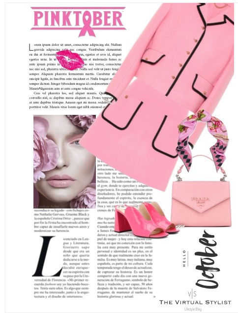 mood board breast cancer awareness