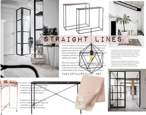 How to decorate furniture with straight lines