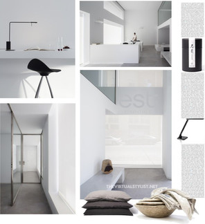 Mood board of a Modern Design Office Space