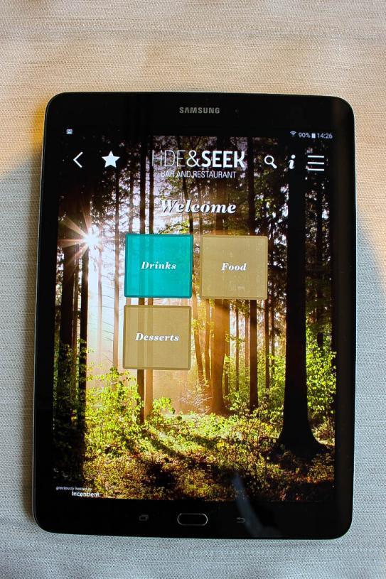 menu tablet