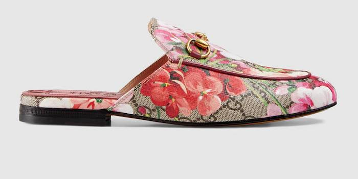 Gucci Princetown GG Blooms slippers