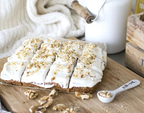 Recipe for carrot cake with cream frosting