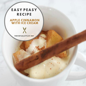 Easy peasy recipe for apple cinnamon with ice cream